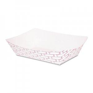 Boardwalk Paper Food Baskets, 1 lb Capacity, Red/White, 1000/Carton BWK30LAG100