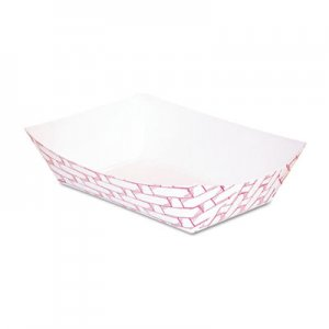 Boardwalk Paper Food Baskets, 1/4 lb Capacity, Red/White, 1000/Carton BWK30LAG025