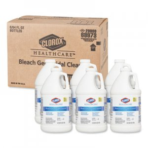 Clorox Hospital Cleaner Disinfectant w/Bleach, 2qt Refill, 6/Carton CLO68973 CLO 68973