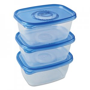 Glad Deep Dish Food Storage Containers, 64 oz, 3/Pack CLO70045PK 70045