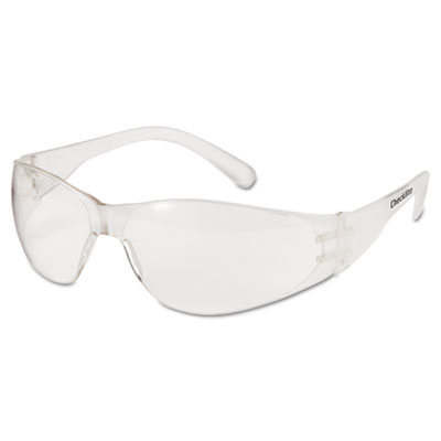 Crews Checklite Safety Glasses, Clear Frame, Clear Lens CL010 CRWCL010 135-CL010