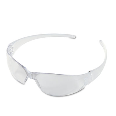 Crews Checkmate Wraparound Safety Glasses, CLR Polycarbonate Frame, Coated Clear Lens CK110 CRWCK110 135-CK110