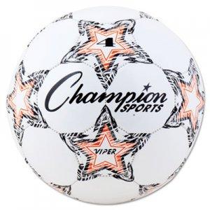 """Champion Sports VIPER Soccer Ball, Size 4, 8""""- 8 1/4"""" dia., White CSIVIPER4 VIPER4"""