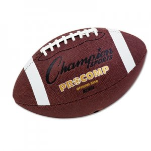 """Champion Sports Pro Composite Football, Official Size, 22"""", Brown CSICF100 CF100"""
