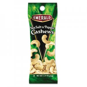 Emerald Sea Salt and Pepper Cashews, 1.25 oz. Tube Package, 12/Box DFD93817 93817