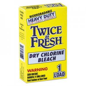 Twice as Fresh Heavy Duty Coin-Vend Powdered Chlorine Bleach, 1 load, 100/Carton VEN2979646 VEN 2979646