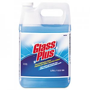 Glass Plus Glass Cleaner, Floral, 1gal Bottle, 4/Carton DVO94379 94379