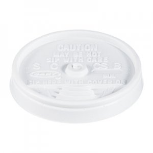 Dart Sip Thru Lids, Fits 6-10oz Cups, White, 1000/Carton DCC8UL 8UL