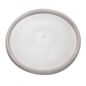 Dart Plastic Lids for Foam Containers, Flat, Vented, Fits 24-32 oz, Translucent, 500/Carton DCC48JL 48JL