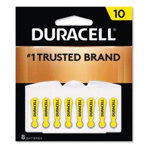 Duracell Lithium Medical Battery, 3V, #10, 8/Pk DURDA10B8ZM10 DA10B8