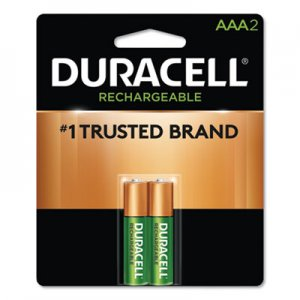 Duracell Rechargeable NiMH Batteries, AAA, 2/PK DURNLAAA2BCD DX2400B2N