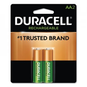 Duracell Rechargeable NiMH Batteries, AA, 2/PK DURNLAA2BCD DX1500B2N