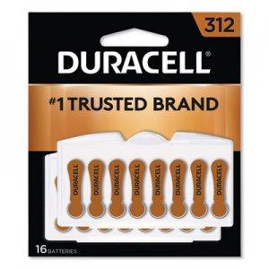 Duracell Button Cell Hearing Aid Battery #312, 16/Pk DURDA312B16ZM09 DA312B16