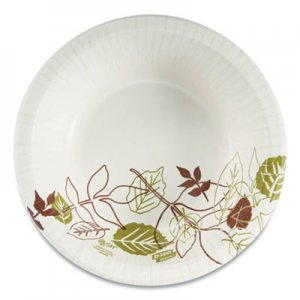 Dixie Pathways Heavyweight Paper Bowls, 20oz, Green/Burgundy, 500/Carton DXESX20PATH SX20PATH