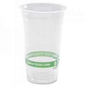 Eco-Products GreenStripe Renewable & Compostable Cold Cups - 24oz., 50/PK, 20 PK/CT ECOEPCC24GS EP-CC24-GS