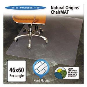 ES Robbins Natural Origins Chair Mat for Hard Floors, 46 x 60, Clear ESR143022 143022