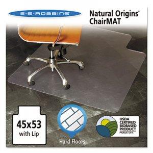 ES Robbins Natural Origins Chair Mat with Lip For Hard Floors, 45 x 53, Clear ESR143012 143012