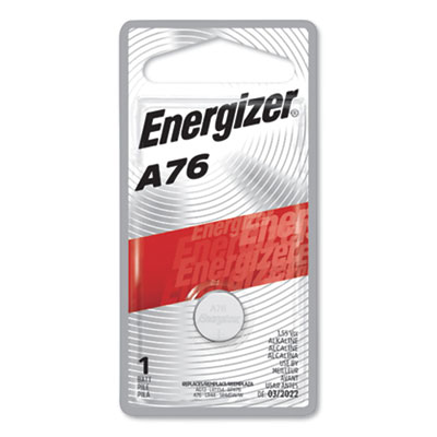 Energizer Watch/Electronic Battery, SilvOx, EPX76, 1.5V, MercFree EVEEPX76BPZ EPX76BPZ