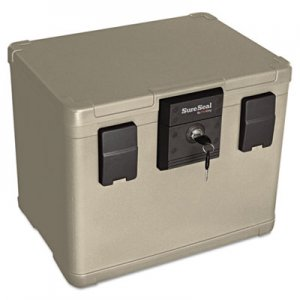 SureSeal By FireKing Fire and Waterproof Chest, 0.60 ft3, 16w x 12-1/2d x 13h, Taupe FIRSS106 SS106