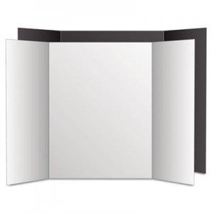 Eco Brites Too Cool Tri-Fold Poster Board, 36 x 48, Black/White, 6/PK GEO27135 27135