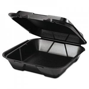 Genpak Snap It Foam Container, 1-Comp, 9 1/4 x 9 1/4 x 3, Black, 100/Bag, 2