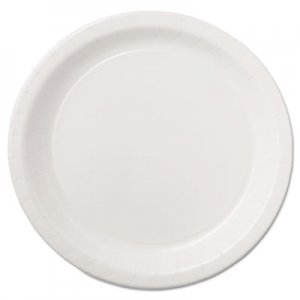 "Hoffmaster Coated Paper Dinnerware, Plate, 9"", White, 50/Pack, 10 Packs/Carton HFMPL7095 PL7095"