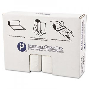 Inteplast Group High-Density Can Liner, 33 x 40, 33gal, 17mic, Clear, 25/Roll, 10 Rolls/Carton IBSS334017N S334017N