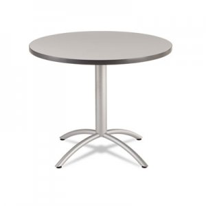 Iceberg CafeWorks Table, 36 dia x 30h, Gray/Silver ICE65621 65621