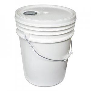Impact Utility Bucket w/Lid, Polyethylene, 5gal, White IMP5515 5515