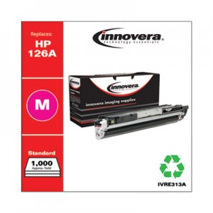Innovera Remanufactured Magenta Toner, Replacement for HP 126A (CE313A), 1,000 Page-Yield IVRE313A