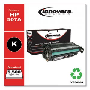Innovera Remanufactured CE400A (507A) Toner, 5500 Page-Yield, Black IVRE400A