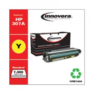 Innovera Remanufactured CE742A (5225) Toner, 7300 Page-Yield, Yellow IVRE742A