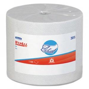 WypAll X50 Cloths, Jumbo Roll, 9 4/5 x 13 2/5, White, 1100/Roll KCC35015 KCC 35015