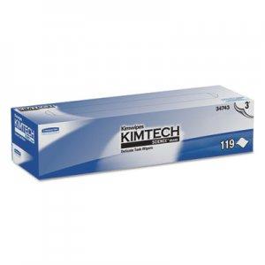KIMTECH Kimwipes Delicate Task Wipers, 3-Ply, 11 4/5 x 11 4/5, 119/Box, 15 Boxes/Carton KCC34743