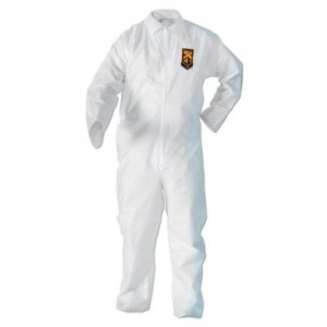 KleenGuard A20 Breathable Particle-Pro Coveralls, Zip, 2X-Large, White, 24/Carton KCC49005 417-49005
