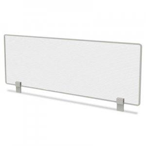 Linea Italia Trento Line Dividing Panel, Polycarbonate, 47.13w x 1.75d x 15.5h, Translucent LITTR721
