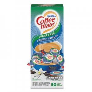 Coffee-mate Liquid Coffee Creamer, Sugar-Free French Vanilla, 0.38 oz Mini Cups, 50/Box NES91757 50000 91757