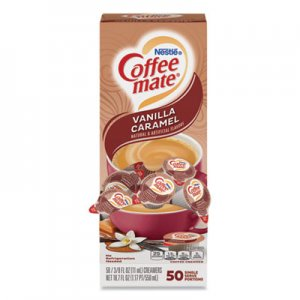 Coffee-mate Liquid Coffee Creamer, Vanilla Caramel, 0.38 oz Mini Cups, 50/Box NES79129 50000 79129