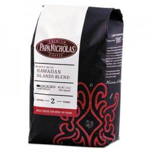 PapaNicholas Coffee Premium Coffee, Whole Bean, Hawaiian Islands Blend PCO32003 32003