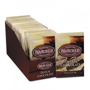 PapaNicholas Coffee Premium Hot Cocoa, Dutch Chocolate, 24/Carton PCO79224 79224