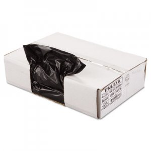 "Penny Lane Linear Low Density Can Liners, 56 gal, 1.2 mil, 43"" x 47"", Black, 100/Carton PNL518"
