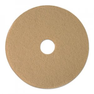 "Boardwalk Tan Burnishing Floor Pads, 19"" Diameter, 5/Carton BWK4019ULT"