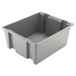 Rubbermaid Commercial Palletote Box, 19gal, Gray RCP1731GRA FG173100GRAY
