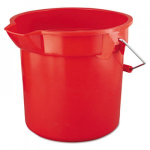 Rubbermaid Commercial BRUTE Round Utility Pail, 14qt, Red RCP2614RED FG261400RED