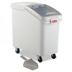 Rubbermaid Commercial ProSave Mobile Ingredient Bin, 26.18gal, 15 1/2w x 29 1/2d x 28h, White RCP360288WHI FG360288WHT