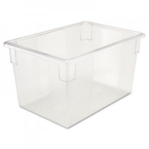 Rubbermaid Commercial Food/Tote Boxes, 21 1/2gal, 26w x 18d x 15h, Clear RCP3301CLE FG330100CLR
