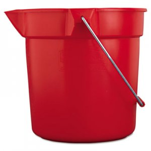 Rubbermaid Commercial BRUTE Round Utility Pail, 10qt, Red RCP2963RED FG296300RED