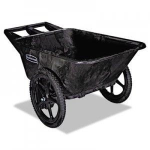 Rubbermaid Commercial Big Wheel Agriculture Cart, 300-lb Cap, 32-3/4 x 58 x 28-1/4, Black RCP5642BLA