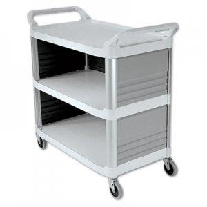 Rubbermaid Commercial Xtra Utility Cart, 300-lb Cap, Three-Shelf, 20w x 40-5/8d x 37-4/5h, Off