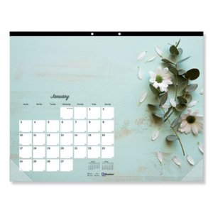 Blueline Romantic Monthly Desk Pad Calendar, 22 x 17, Blossoms, 2020 REDC194112 C194112
